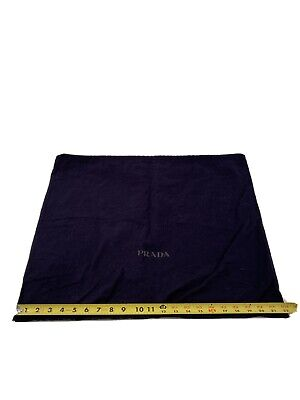 """Authentic PRADA Navy Blue Dust Cover 18""""x22"""" Large For Handbag Or Purse Cotton"""