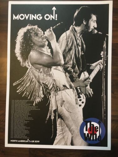 THE WHO, OFFICIAL 2019 TOUR POSTER