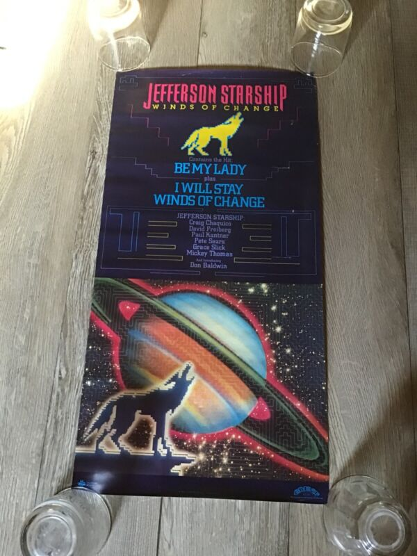 JEFFERSON STARSHIP Winds Of Change Promotional Window Poster Rare