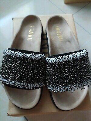 Inuikii flip flop sandals size 38 women girls leather next day post