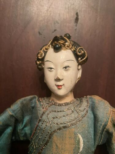 RARE Antique Composition/Wood Chinese Opera Doll Lady 1
