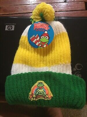 Kermit The Frog Knit Hat 1981