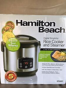 HAMILTON BEACH and MIDEA DIGITAL RICE COOKER (New, Never Used)