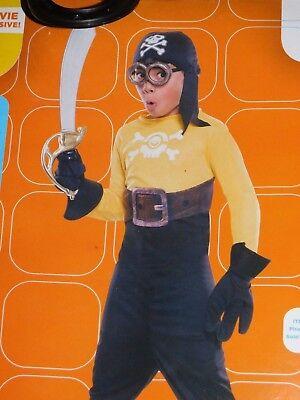 Minion Pirate Halloween Costume Sz 4 5 6 Small  8 10 Medium Despicable Me Child - Minion Baby Halloween Costume