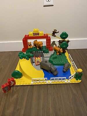 RARE Vintage 1990 LEGO DUPLO 2668 ZOO PLAY SET - Almost Complete With Baseplate