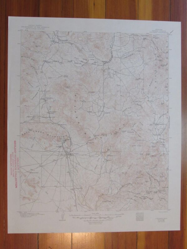 Congress Arizona 1948 Original Vintage USGS Topo Map