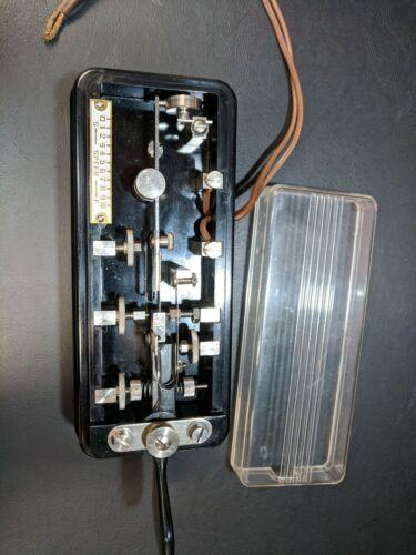 Hi-Mound Bk-100 Morse-Key Semi-Automatic Telegraph Key Coffin Bug Japan