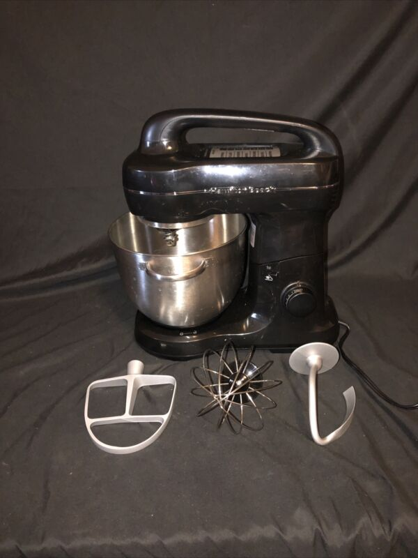Hamilton Beach 63391 7 Speed Stand Mixer with Whisk, Dough Hook, Flat Beater...