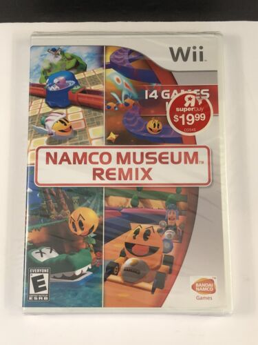 Namco Museum Remix Nintendo Wii Factory Sealed New 14 Games Dig Dug Pac-Mania - $10.95