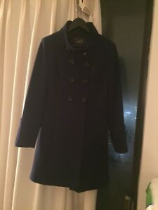 Dark blue women winter jacket