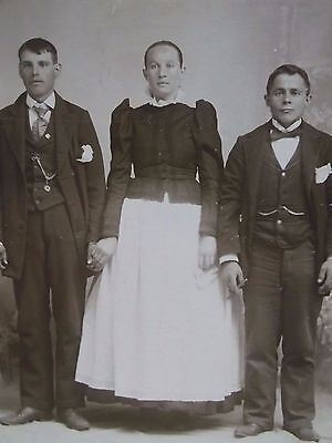 Antique Cabinet Photo-Wedding?Lady,Men,Odd Dress,Cigars,Fashion,Fob-Hazleton,PA