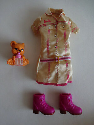 5 Pc Barbie Zoo Keeper Pet Vet Doll - Zoo Keeper Outfit