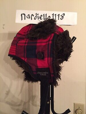NWT  Abercrombie & Fitch Plaid Trapper Hat - Men's  One Size NWT
