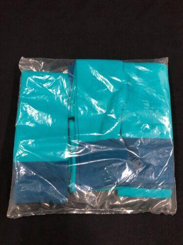 (6 PACK) MIAMI DOLPHINS TEAM ISSUED BRAND NEW NAVY/AQUA/ HALF SOCKS SIZE 15