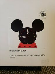 Disney Parks Table Top Mickey Mouse Icon Clock NIB