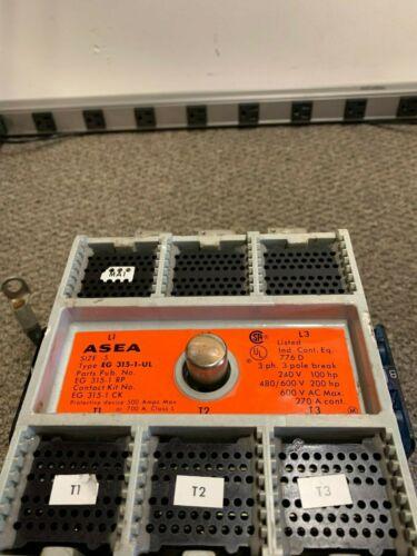 Asea Contactor Size 5 EG 315-1-UL 776D 3 Pole