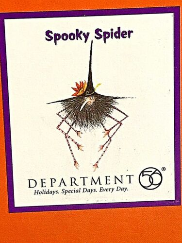 PATIENCE BREWSTER SPOOKY SPIDER  ORNAMENT DEPT 56 KRINKLE ORNAMENT
