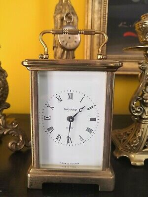 Antique French Bayard 8 Day Carriage Clock By  Duverdrey & Bloguel