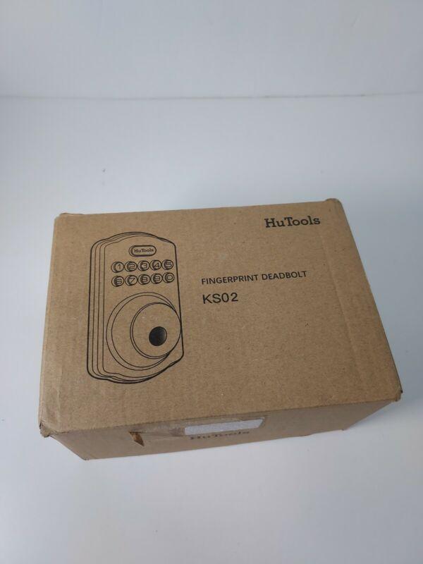 New in Open Box HuTools Keyless Fingerprint Digital Deadbolt Lock KS02 Backlit