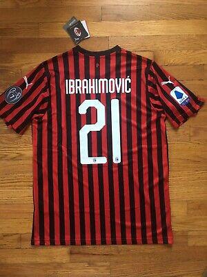 NWT Puma AC Milan 19/20 Zlatan Ibrahimovic #21 Home Jersey (Men's Large)
