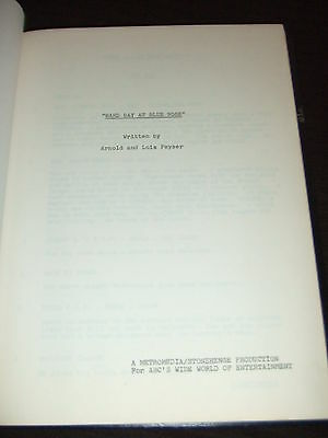 SIGNED 1974 ABC Wide World Mystery Hard Day Blue Nose Script Cast Patty Duke FOY
