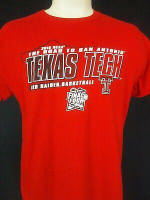 NCAA 2018 Texas Tech Red Raiders Basketball Final Four Red T Shirt Size L