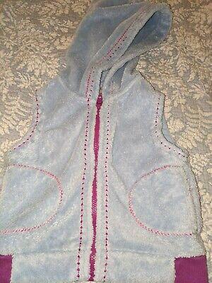 Gebruikt, Hanna Andersson Girls Sz. 110 Light Blue Zip Up Hooded Fleece Vest. Soft,... tweedehands  verschepen naar Netherlands