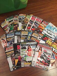 Car magazines.