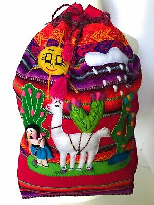 Kids Embroidered Backpacks (Handwoven Children's Backpack. Embroidered Wool School)