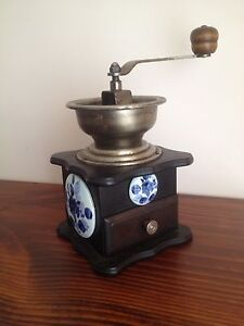 Circa 1950s Rare Vintage  Wood with ceramic coffee grinder South Morang Whittlesea Area Preview
