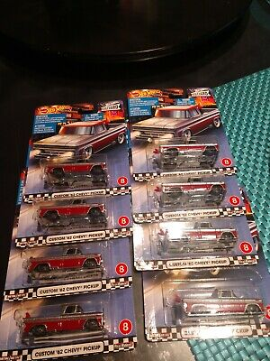 Hot wheels Custom 62 Chevy Pickup lot of 8