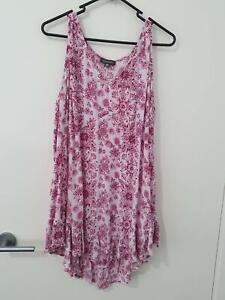 Autograph White & Pink Singlet Top Size 20