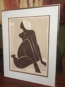 1970s well knowncanadian artist. Signed Rare lithograph