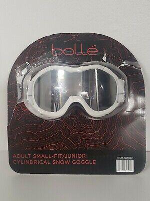 Bolle Adult Small Fit Junior Cylindrical Ski Snow Goggle White  Junior Ski Goggle