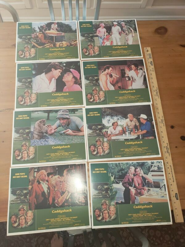 Caddyshack Lobby Card Set of 8 Nice Chevy Chase Bill Murray Rodney