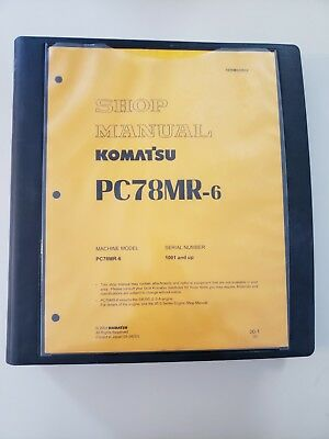 Komatsu Hydraulic Excavator Shop Manual Pc78mr-6 Serial Number 1001 And Up