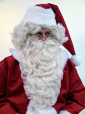 Nikolausbart Bart flachsblond Nikolaus Santa Xmas Weihnachtsmann Rauschebart neu