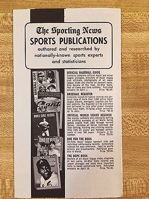 The Sporting News Sports Publication Order Form  1970S