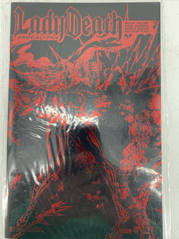 LADY DEATH Apocalypse Red Foil Leather Variant