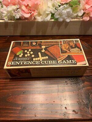 Original Scrabble Sentence Cube Board Game Vintage 1971 Complete Game Set