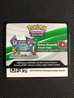 Pokemon 2018 World Championship TCGO Online Promo Code