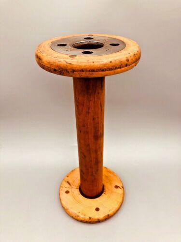 "Vintage Antique Wooden / Wood Large Industrial Textile Spool Bobbin 11.5"""