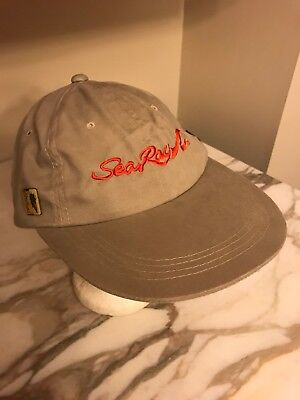 Sea Ray Khaki Youth Hat Cap Boat Yacht Cap With Pins One Size