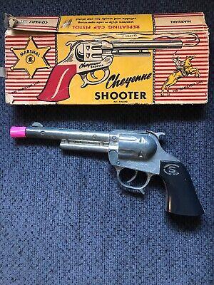 Scarce CS Cheyenne Shooter Hamilton Line Repeating Cap Gun Pistol W/box