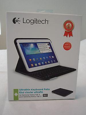 NEW * Logitech Ultrathin Keyboard Folio for 10.1-Inch Samsung Galaxy Tab 3 Black for sale  Shipping to India