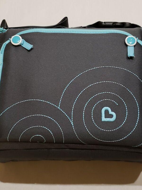 MUNCHKIN GoBoost Travel Booster Seat, Dark Gray & Light Blue