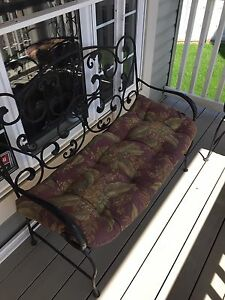 Bombay Company wrought Iron love seat and two chairs cush incl