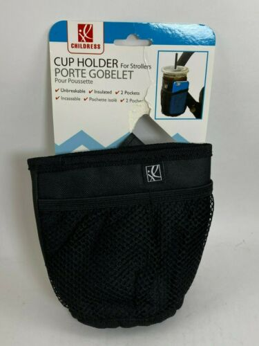 J.L. Childress Cup Holder for Strollers - Insulated, 2 pockets