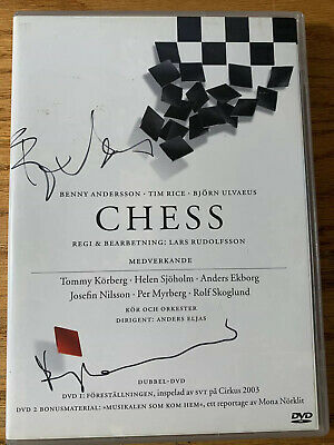 SIGNED ABBA Chess DVD Set: Benny Anderson and Bjorn Ulvaeus Autographs