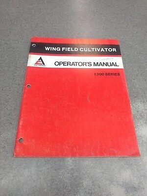 Allis Chalmers 1300 Field Cultivator Operators Manual 71508604